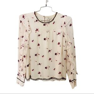 Joie Leitha Floral Blouse Size Small